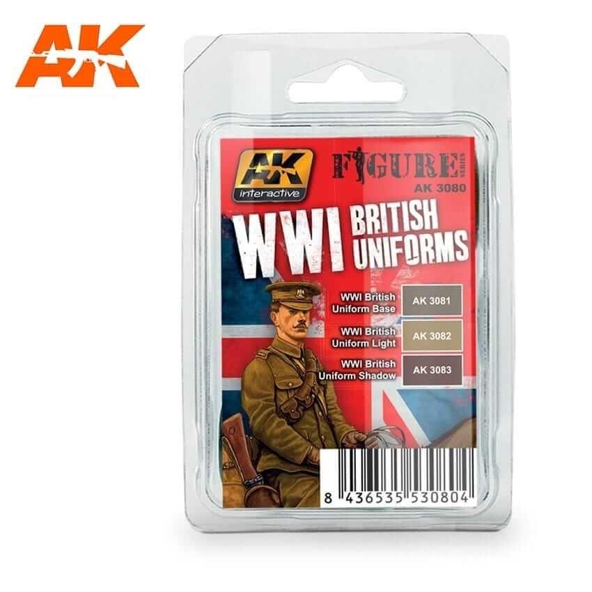AK Interactive WWI British Uniforms Acrylic Paint Set