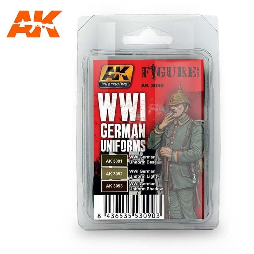 AK Interactive WWI German Uniforms Acrylic Paint Set