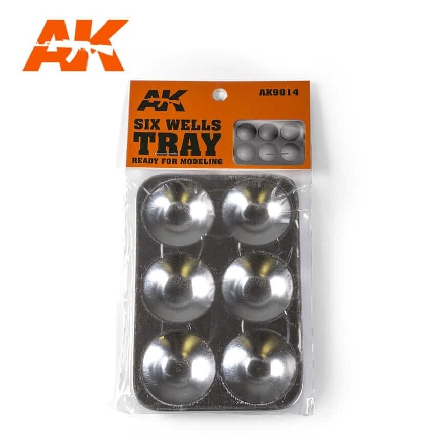 AK Interactive Aluminum 6 Wells Paint Tray