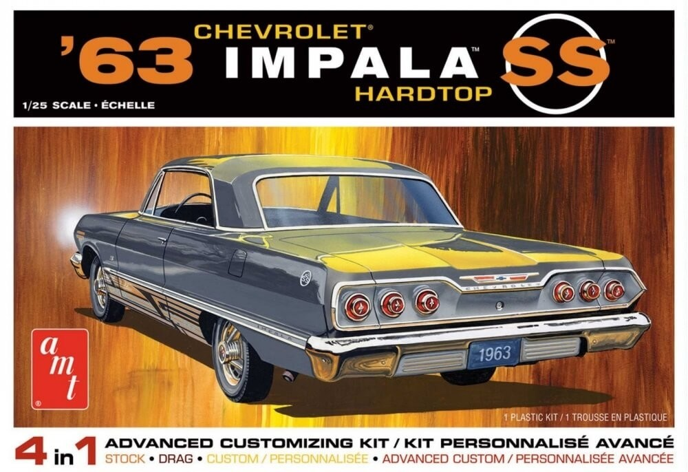 AMT 1:25 1963 Chevy Impala SS 4 in 1 Plastic Model Kit