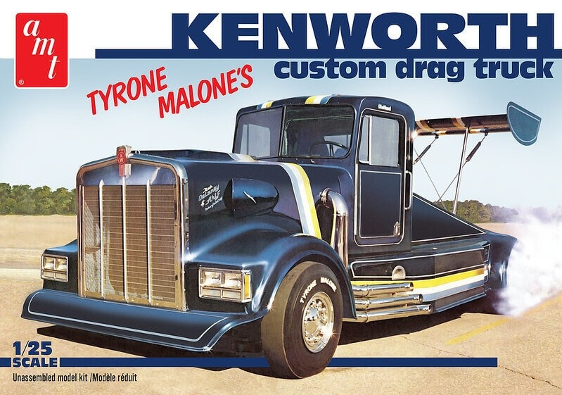 AMT 1/25 Scale Tyrone Malone Black Bandit Kenworth Drag Truck Plastic Model