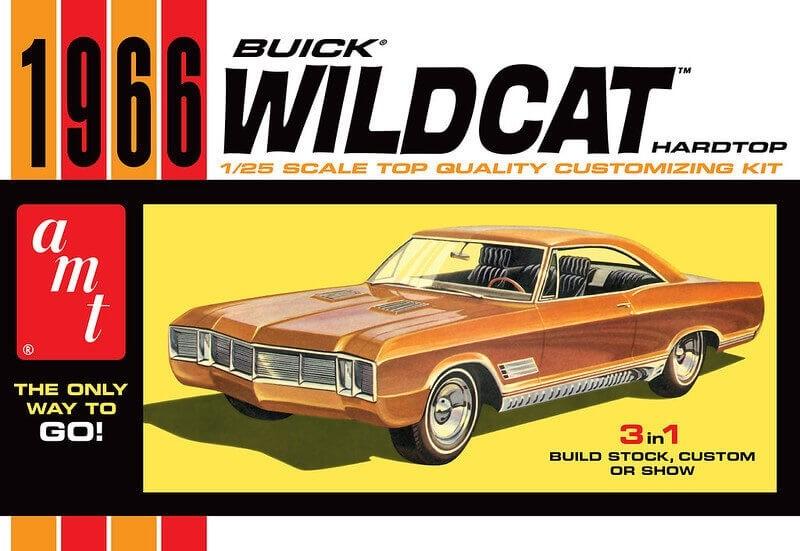 AMT 1/25 Scale 1966 Buick Wildcat Hardtop Plastic Model Kit