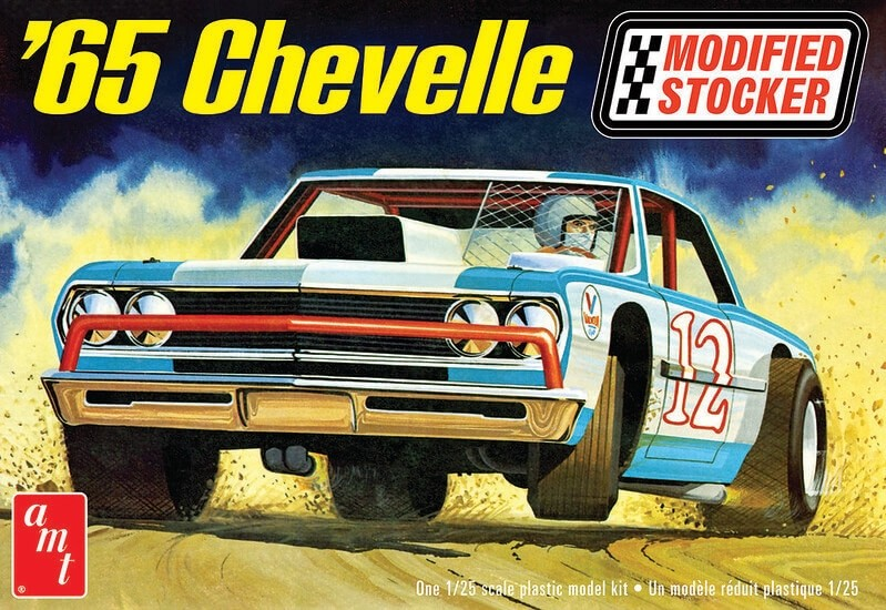 AMT 1/25 Scale 1965 Chevelle Modified Stock Car Plastic Model Kit