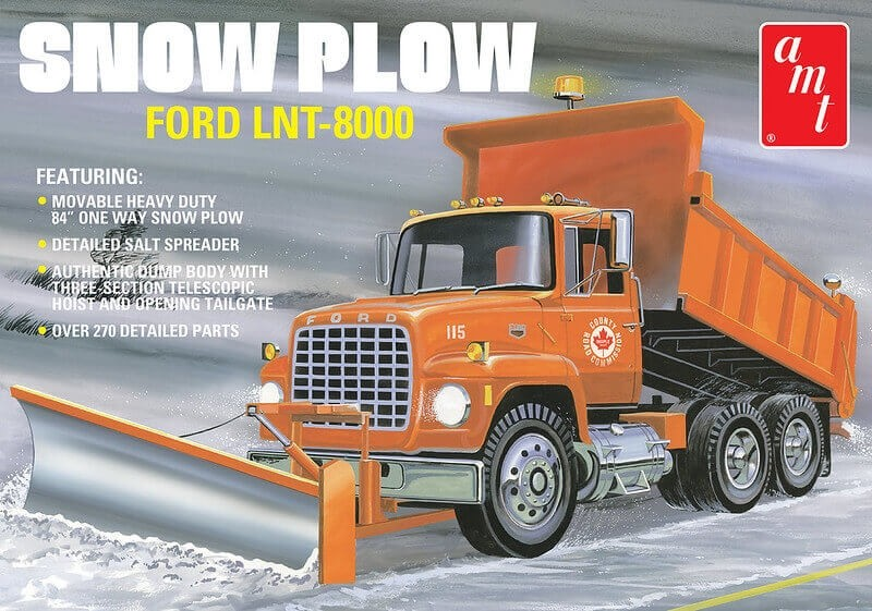 AMT 1/25 Scale Ford LNT-8000 Snow Plow Plastic Model Kit