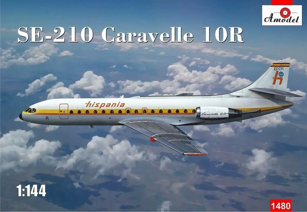 A Model 1:144 SE210 Caravelle 10R Plastic Model Kit
