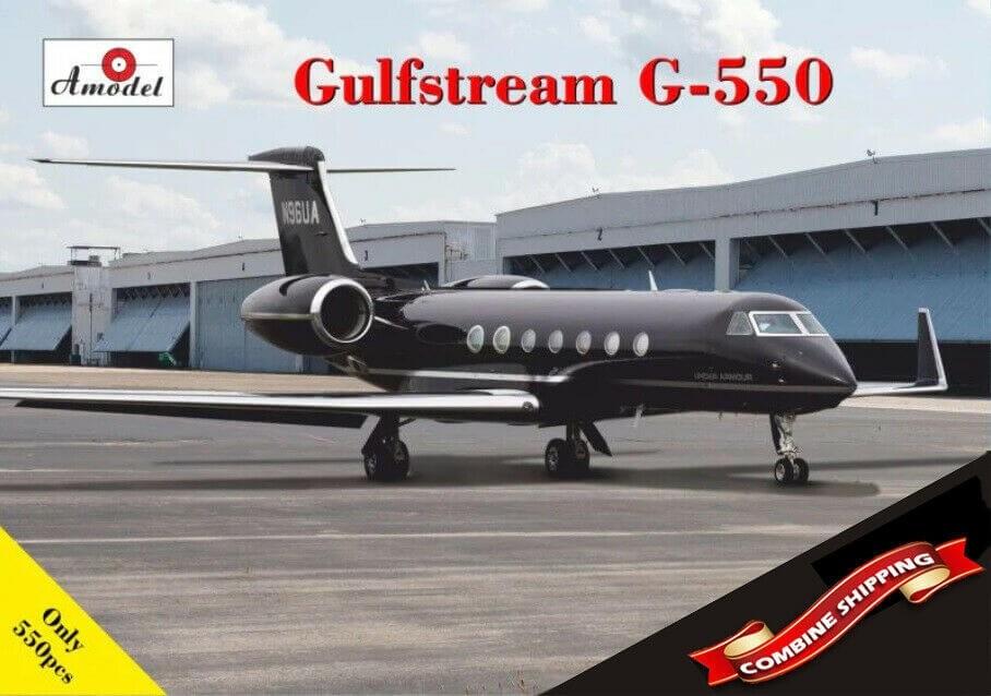 A Model 1/72 G550 Gulfstream Plastic Model Kit