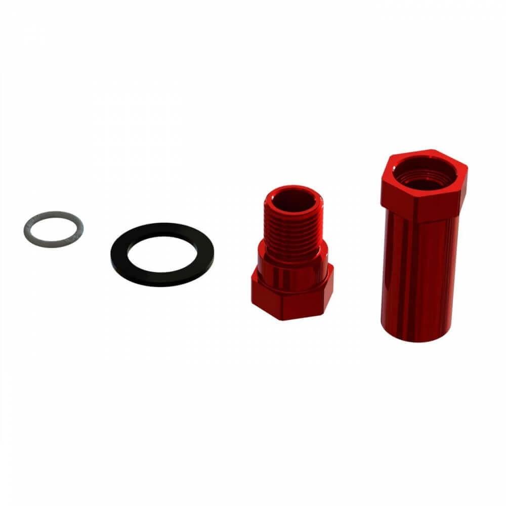 ARRMA Red Aluminum Servo Saver Hub Set Infraction/Kraton