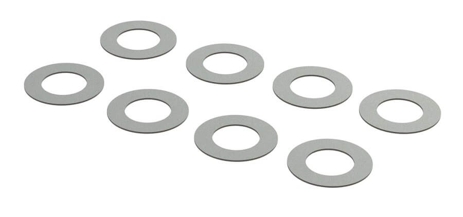 ARRMA 5.4 x 9.5 x .02mm Metal Shims (8)