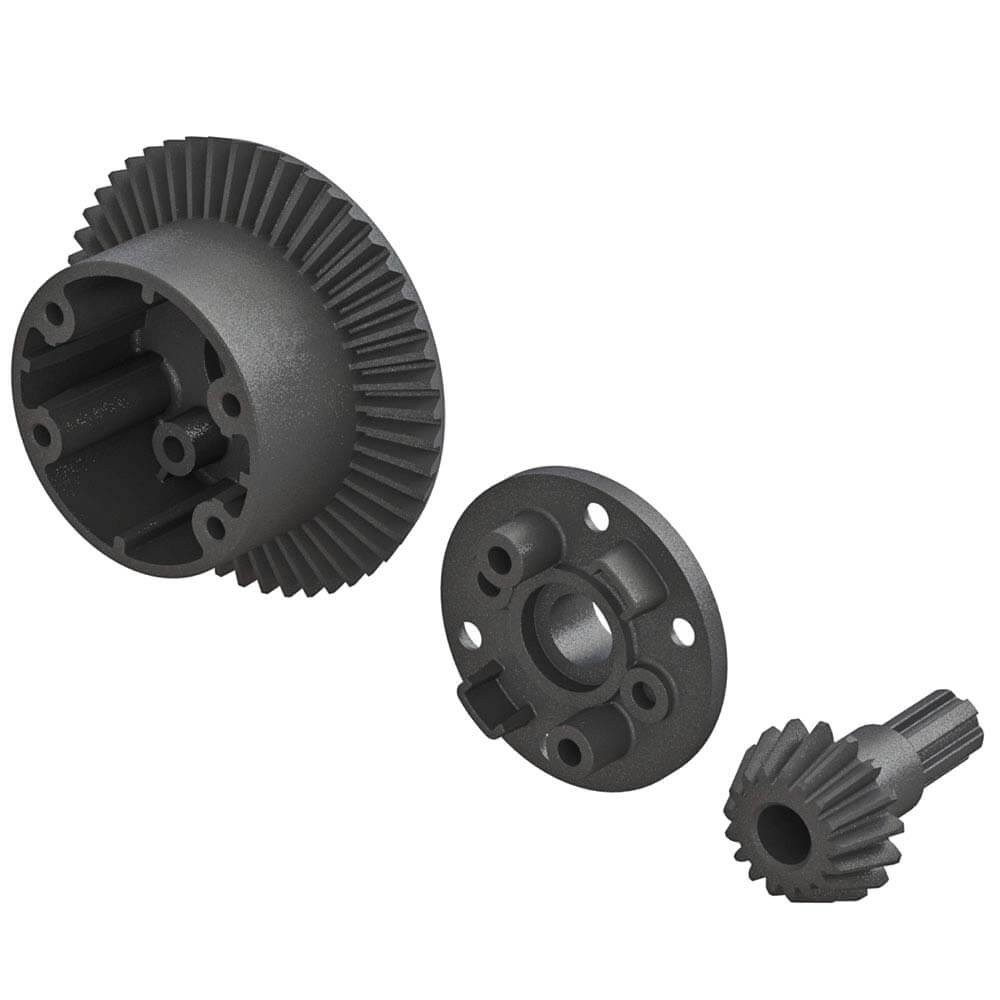 ARRMA 49/17 Tooth Differential Gears & Case Granite/Senton 4x4