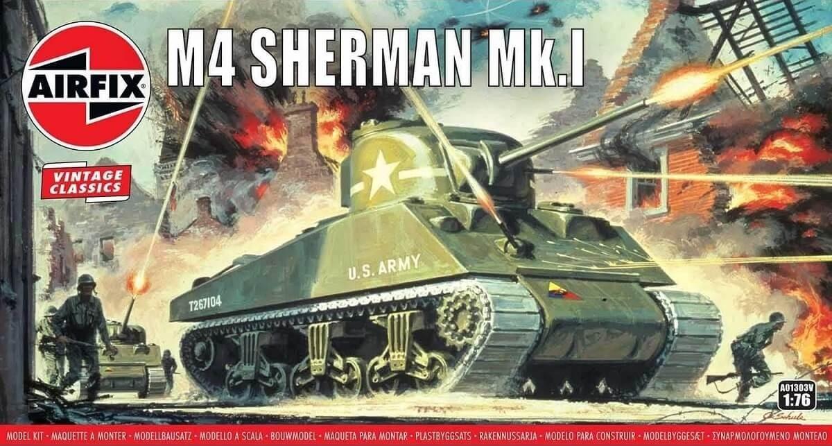 Airfix 1:76 M4 Sherman Mk.I Plastic Model Kit