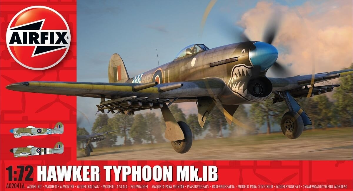Airfix 1//72 Hawker Typhoon MK.Ib Plastic Model Kit 02041A ARX02041A
