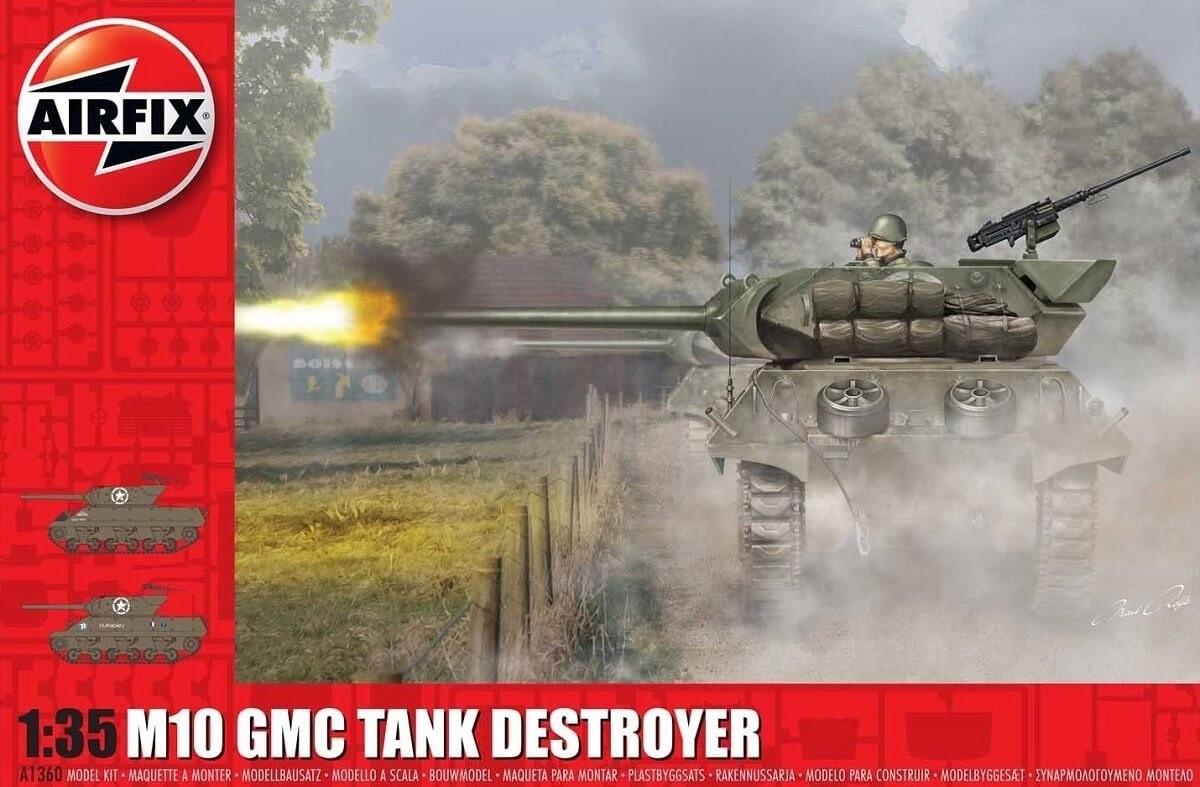 Airfix 1:35 M10 GMC Tank Destroyer Plastic Model Kit