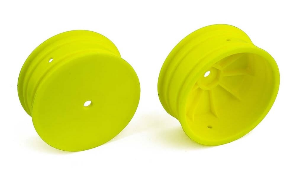 """Team Associated 12 mm 4WD 2.2"""" Front Wheels Yellow"""