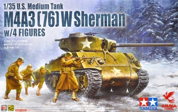 Asuka 1:35 M4A3(76)W Sherman Plastic Model Kit