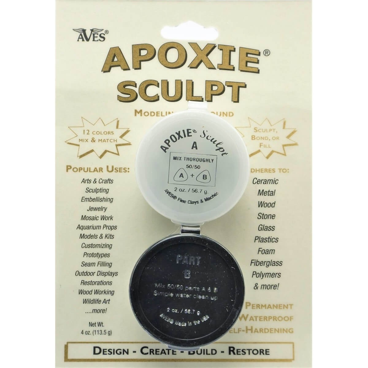 Aves Apoxie Sculpt White Two Part Self-Hardening Adhesive