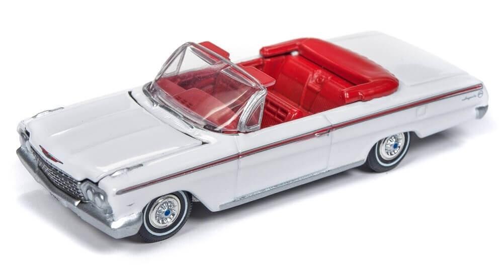 Auto World 1 64 1962 Chevy Impala Convertible Gloss White Aw64192
