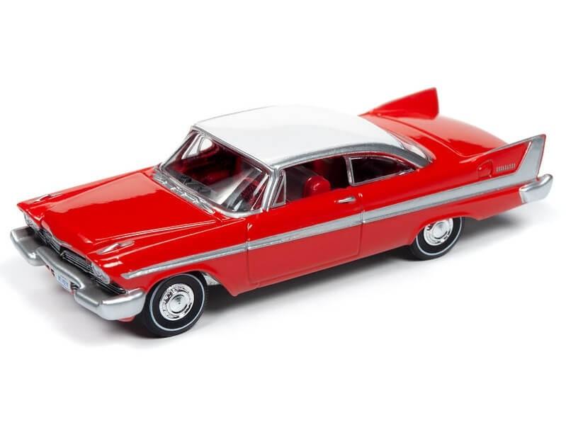 Auto World 1/64 1958 Plymouth Belvedere Red Die-Cast Car