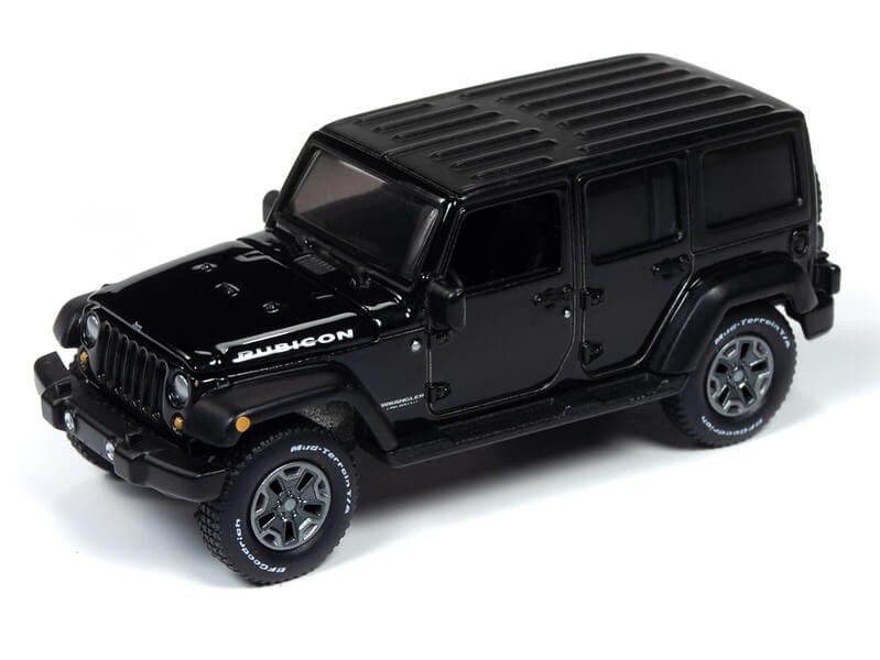 Auto World 1/64 2018 Jeep Wrangler Gloss Black Die-Cast Car