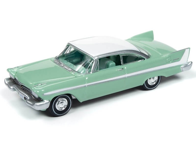 Auto World 1/64 1958 Plymouth Belvedere Misty Green Die-Cast Car