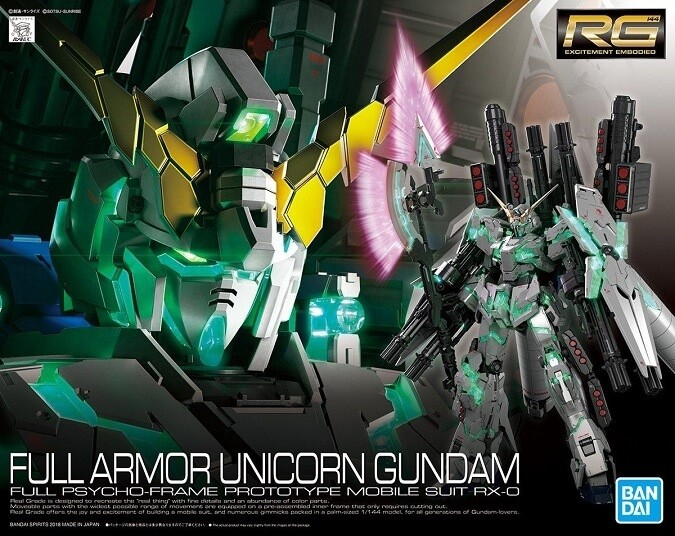 Bandai RG Full Armor Unicorn Gundam Plastic Model Kit