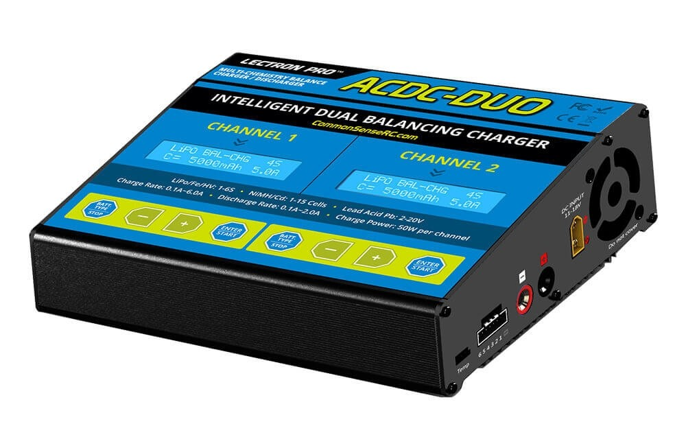 Common Sense Two-Port Multi-Chemistry Charger