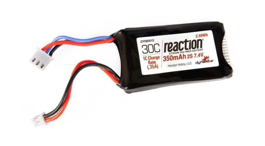Dynamite 7.4v 350mAh 2S LiPo Battery Axial SCX24