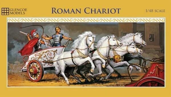 Glencoe 1/48 Roman Chariot w/4 Horses & 2 Charioteers Plastic Model Kit