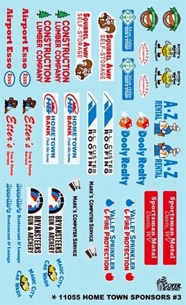 Gofer Racing Decals 1:24-1:25 Home Town Sponsors
