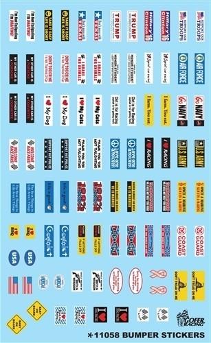 Gofer Racing Decals 1:24-1:25 Bumper Stickers