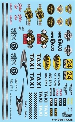 Gofer Racing Decals 1:24-1:25 Taxis