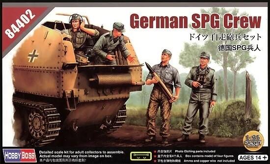 Hobby Boss 1:35 German SPG Crew Plastic Model Kit