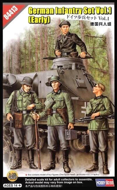 Hobby Boss 1:35 German Infantry Set Vol 1 Plastic Model Kit