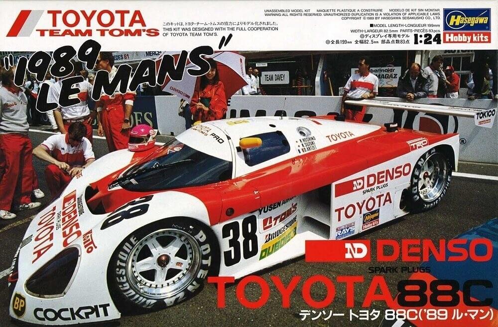 Hasegawa 1/24 Denso Toyota 88C 1989 Le Mans Plastic Model Kit