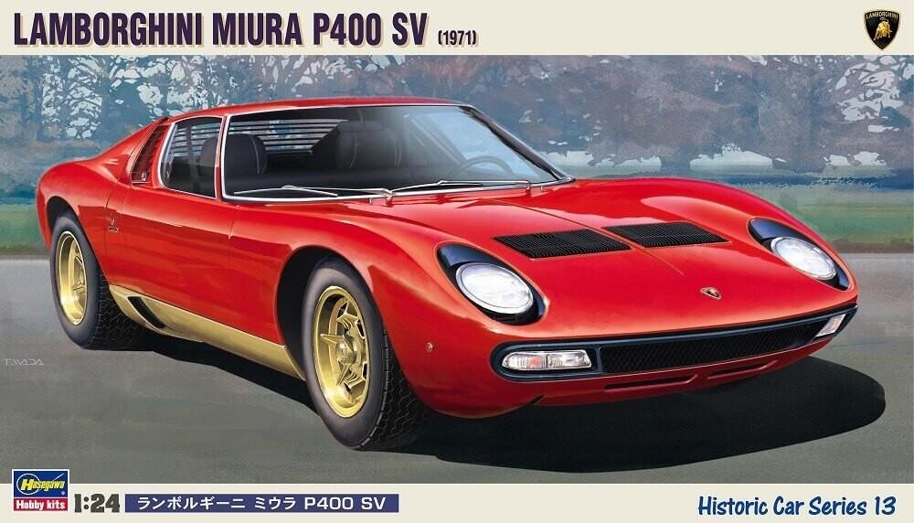 Hasegawa 1/24 1971 Lamborghini Miura P400 SV Plastic Model Kit