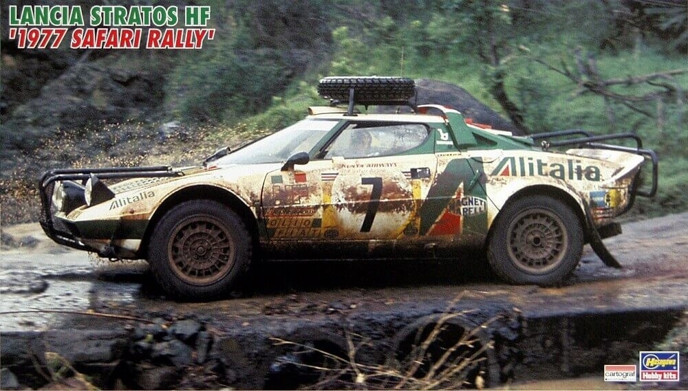 Hasegawa 1/24 Landia Stratos HF 1977 Safari Rally Plastic Model Kit