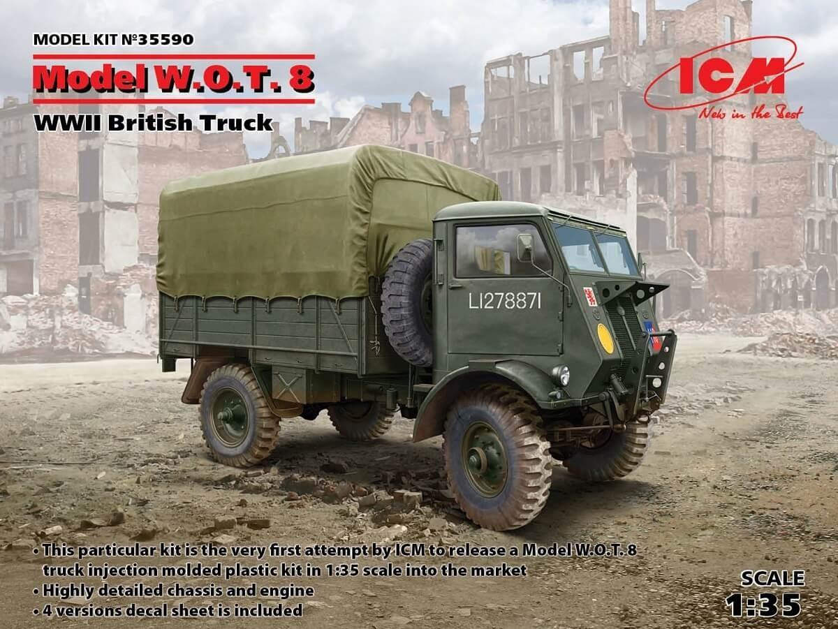 ICM 1:35 W.O.T.8 WWII British Truck Plastic Model Kit