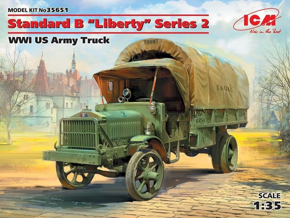 ICM Models 1/35 WWI US Standard B Liberty Series 2 Army Truck Plastic Model Kit