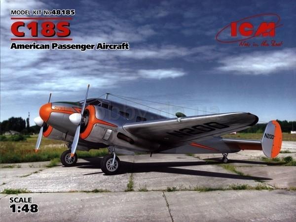 ICM Models 1/48 C18S American Passengers Aircraft Plastic Model Kit