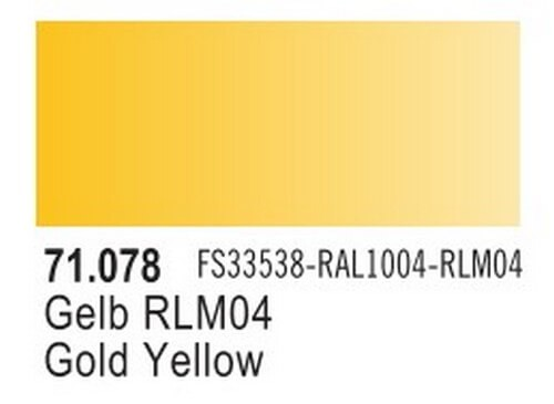 Gold Yellow Model Air Color 17ml Bottle Paint