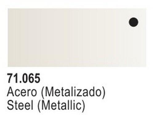 Steel Metallic Model Air Color 17ml Bottle Paint