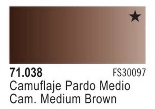 Camouflage Medium Brown Model Air Color 17ml Bottle Paint