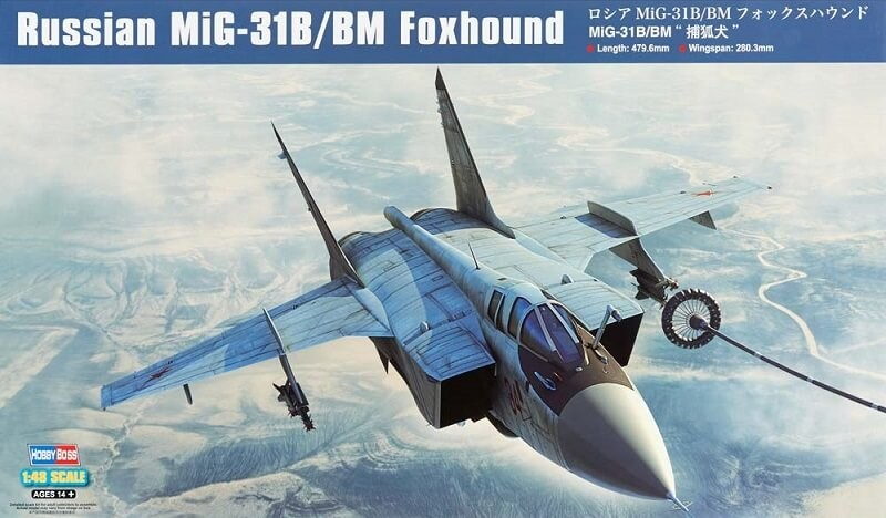 1/48 Russian MiG-31B/BM Foxhound Plastic Model Kit