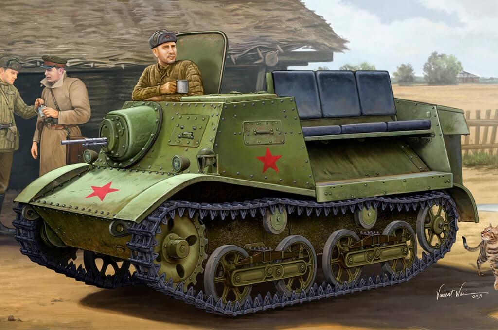 1:35 Soviet T-20 Armored Tractor Komsomolets Model Kit