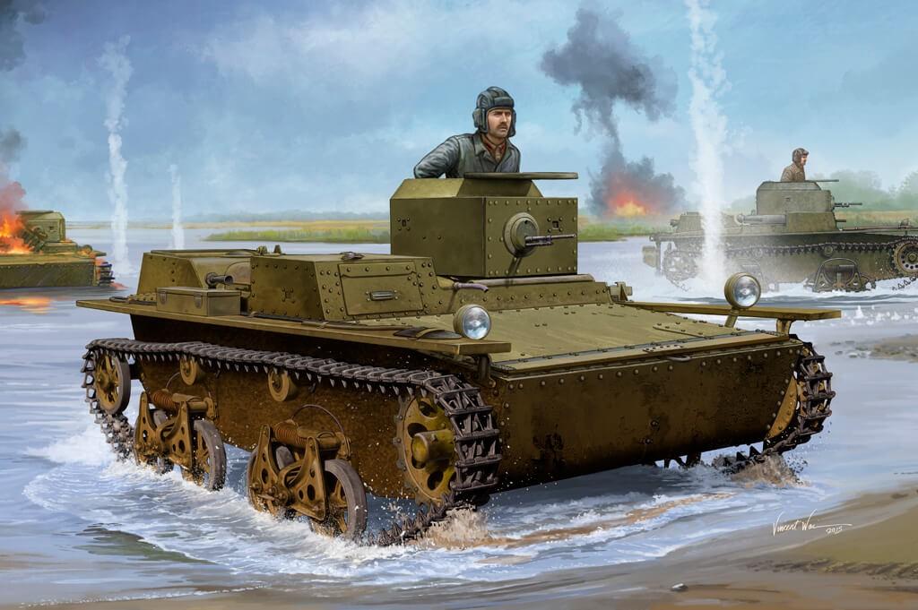 1:35 Soviet T-38 Amphibious Light Tank Model Kit
