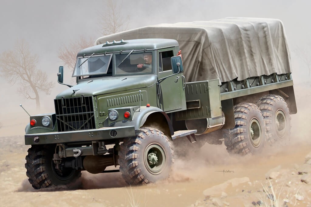 1:35 Russian KrAZ-255B Truck Plastic Model Kit