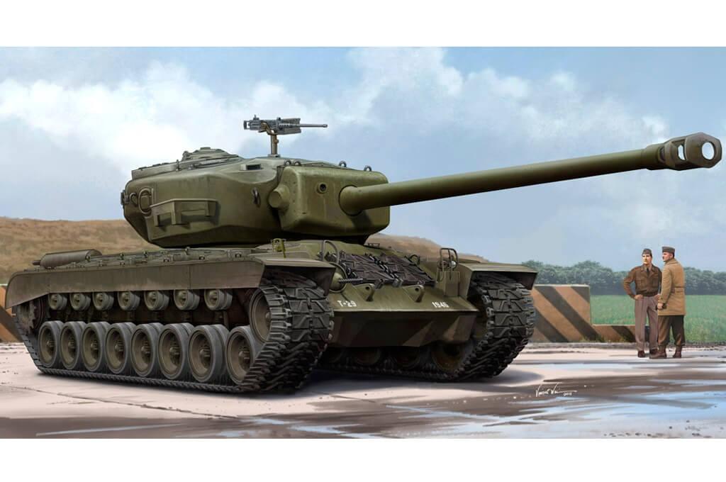 1:35 US T29E1 Heavy Tank Plastic Model Kit