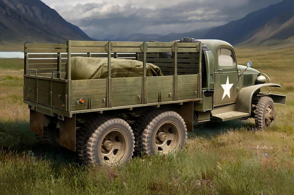 1:35 US GMC CCKW-352 Wood Cargo Truck Model Kit