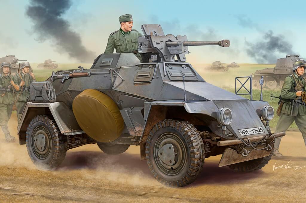 1:35 Sd.Kfz.221 Leichter Panzerspahwagen Model Kit