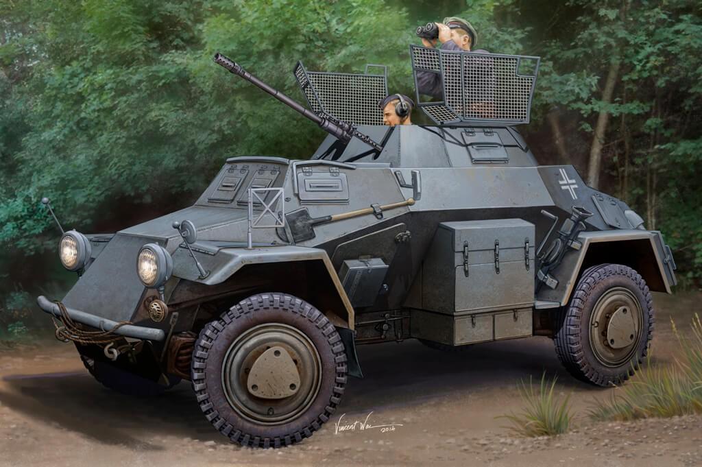 1:35 Sd.Kfz.222 Leichter Panzerspahwagen Model Kit