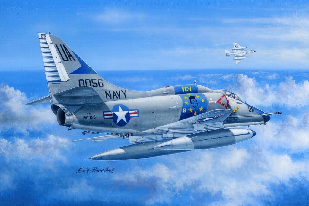 1:48 A-4E Sky Hawk Airplane Plastic Model Kit